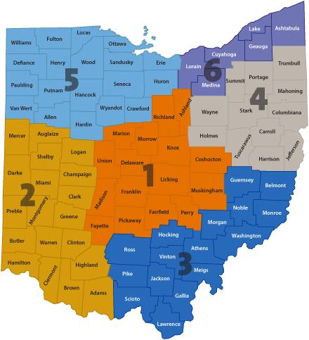 ITLS regions map